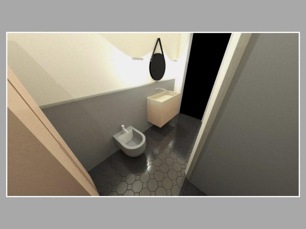3D Visualisierung des Badezimmers
