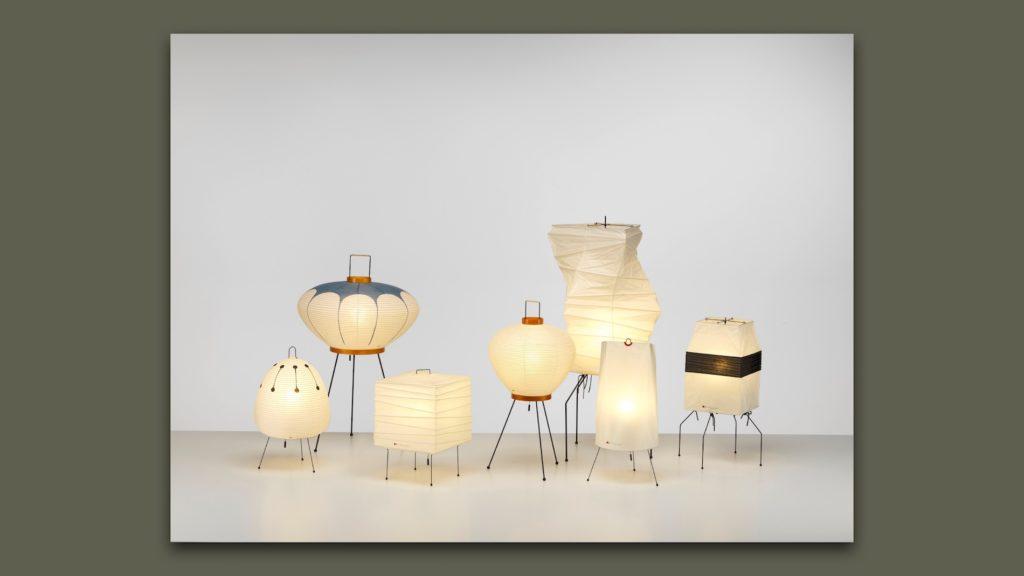 Akari Leuchten von Pierre Paulin produziert von Vitra