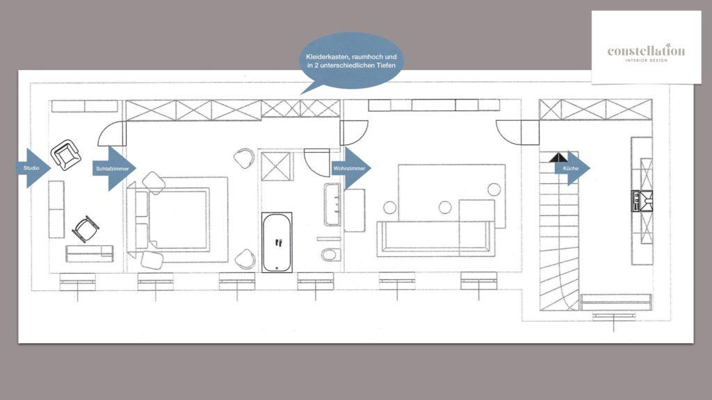 Grundriss Schlafzimmer Wohnung 1130 Wien Interior Design
