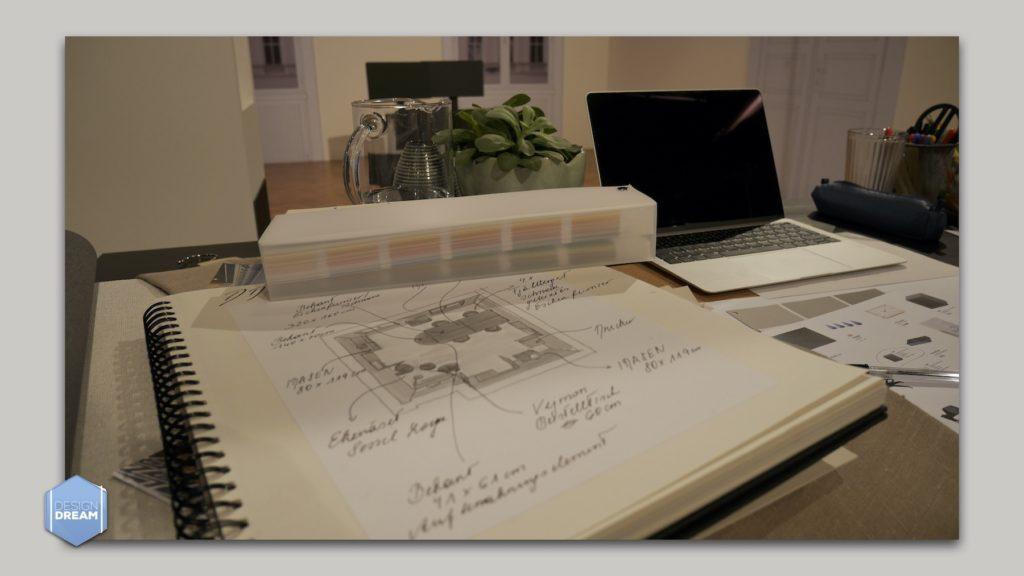 Unterlagen Interior Design Filmset