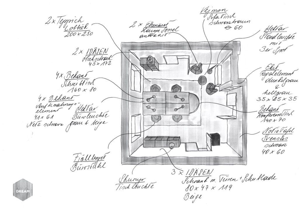 Einrichtungsplan_Start_up_Office_Büro_Dream_Design