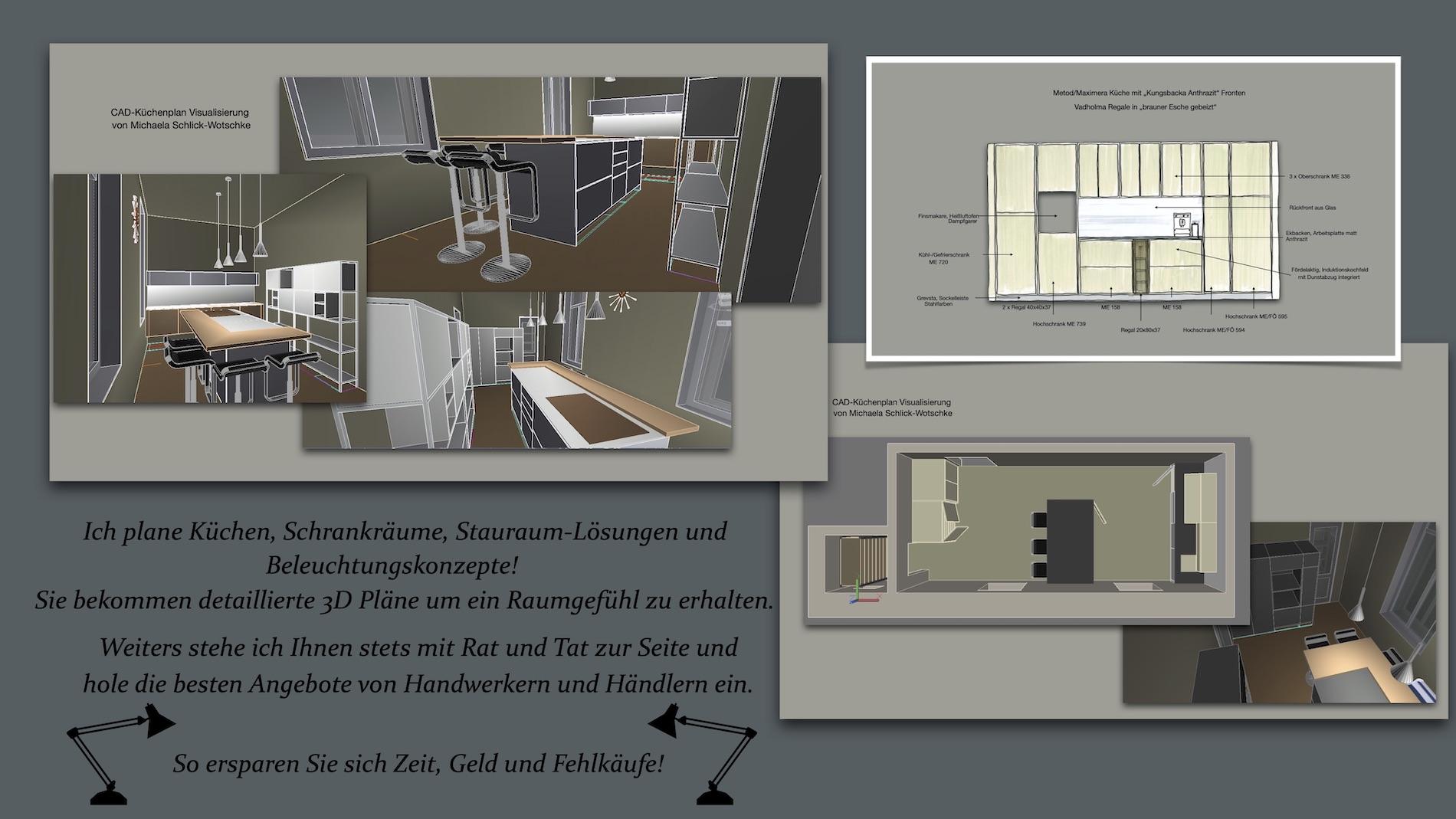 Küchenplanung mit Hilfe von CAD Zeichnungen