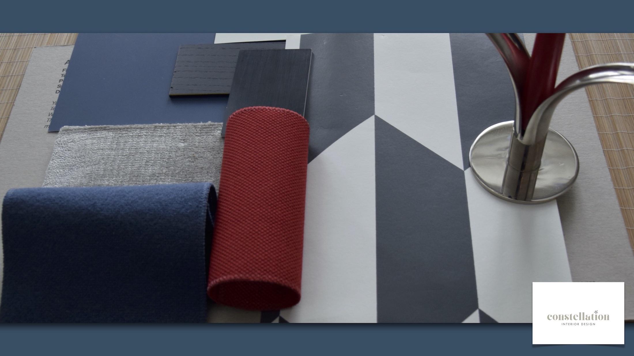 Interior Design Einrichtungsempfehlungen verschiedener Materialien Moodboard Materialien